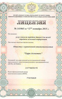 Лицензия №141065