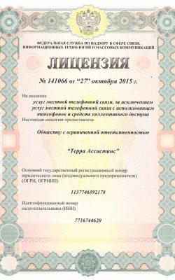 Лицензия №141066